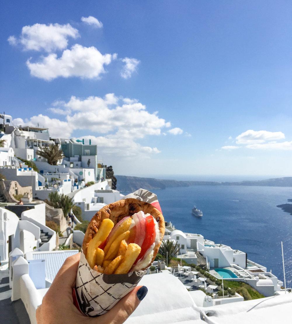 Sandwich from Why Not! Souvlaki, Santorini, Greece