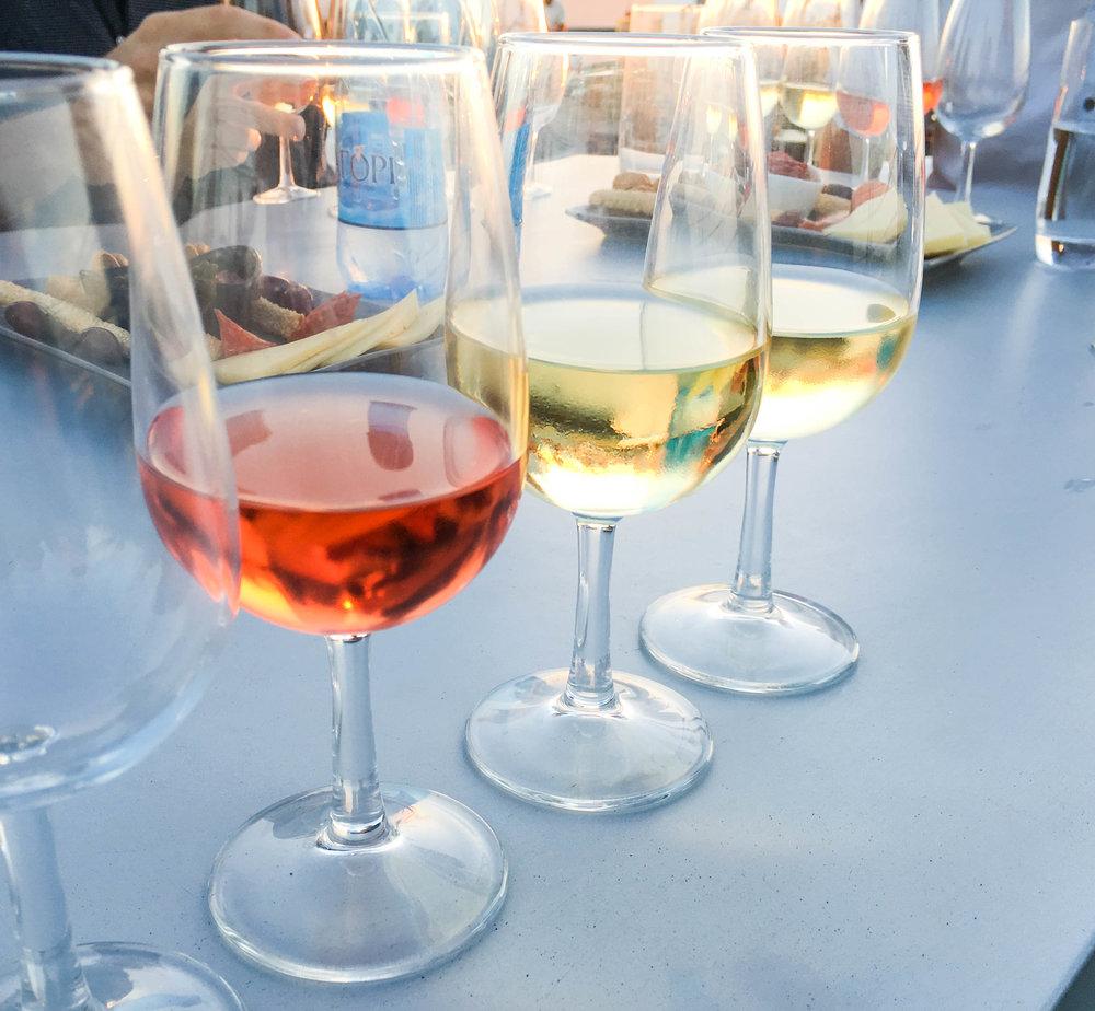 Wine tasting in Santorini, Greece