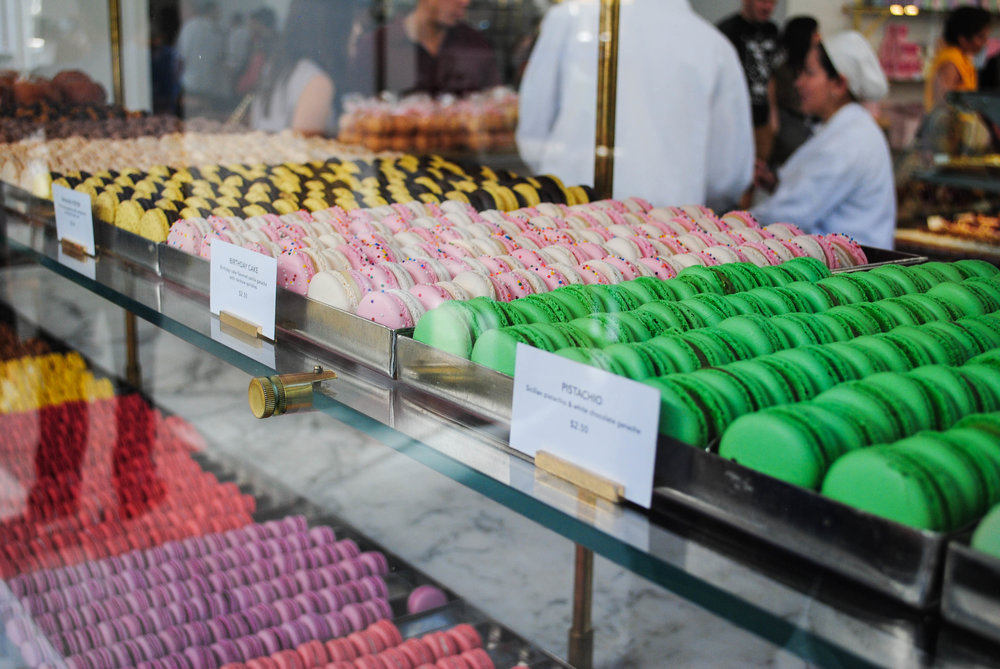 Rainbow of Macarons at Bottega Louie, Downtown Los Angeles, CA