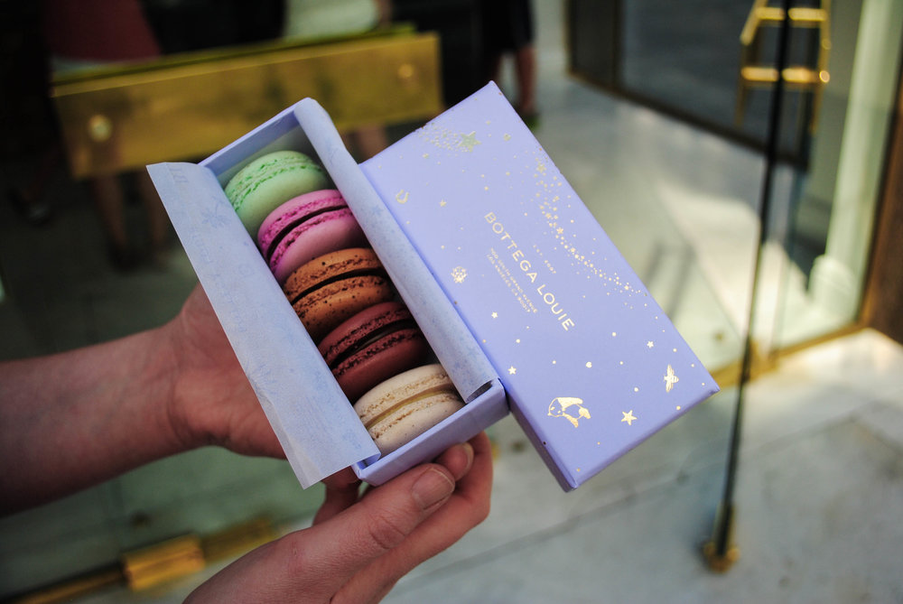 Gorgeously packaged macarons, Bottega Louie, Downtown Los Angeles, CA