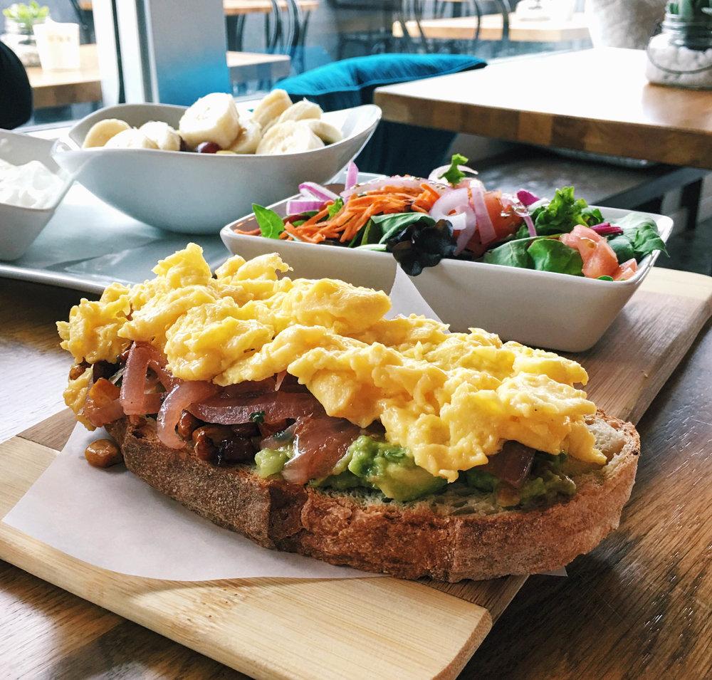 Avocado Toast, Café Solar, Westchester