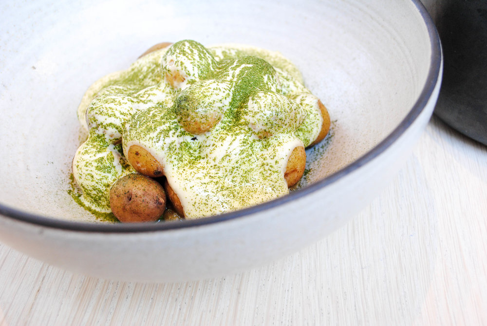 baby potatoes, lemon, brown butter, lovage. Destroyer, Culver City, CA