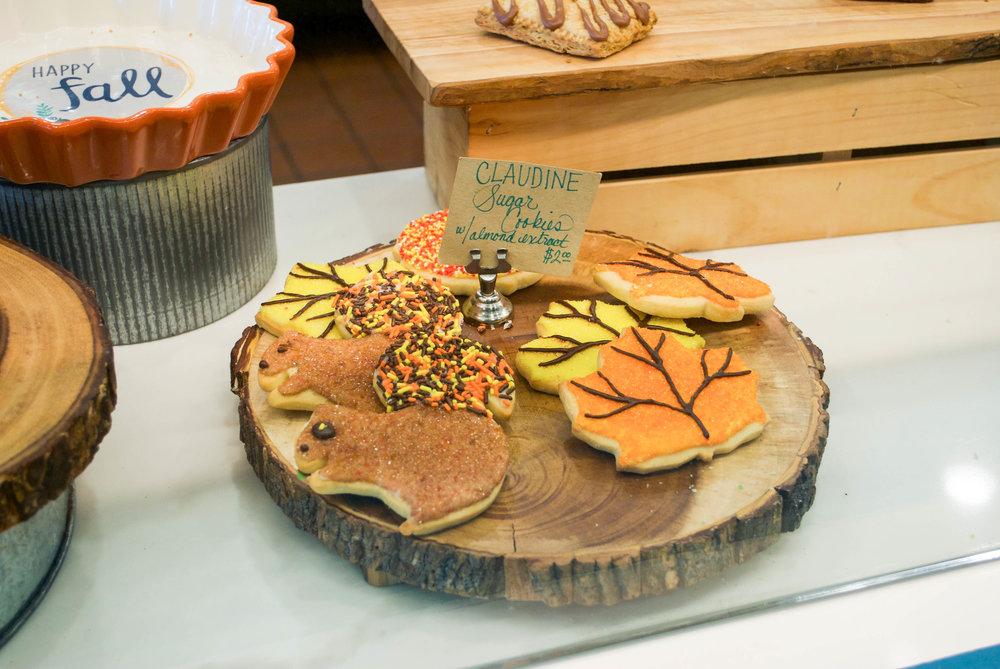 Adorable Thanksgiving cookies at Claudine Artisan Kitchen & Bakeshop, Encino, CA