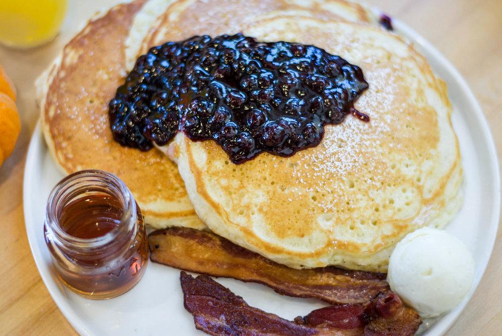 Malted Milk Pancakes at Claudine Artisan Kitchen & Bakeshop, Encino, CA
