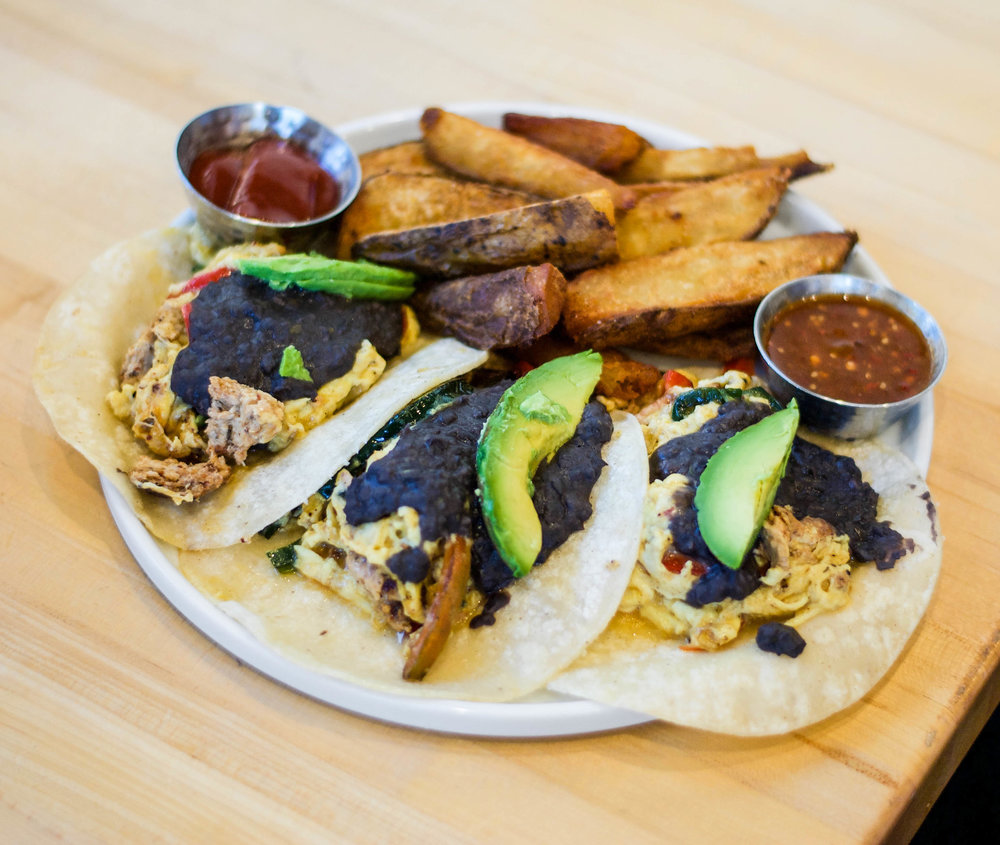 Breakfast Tacos at Claudine Artisan Kitchen & Bakeshop, Encino, CA