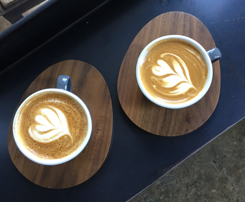 Cappuccino (left), Cubano (right), Coffee Commissary, Los Angeles, CA