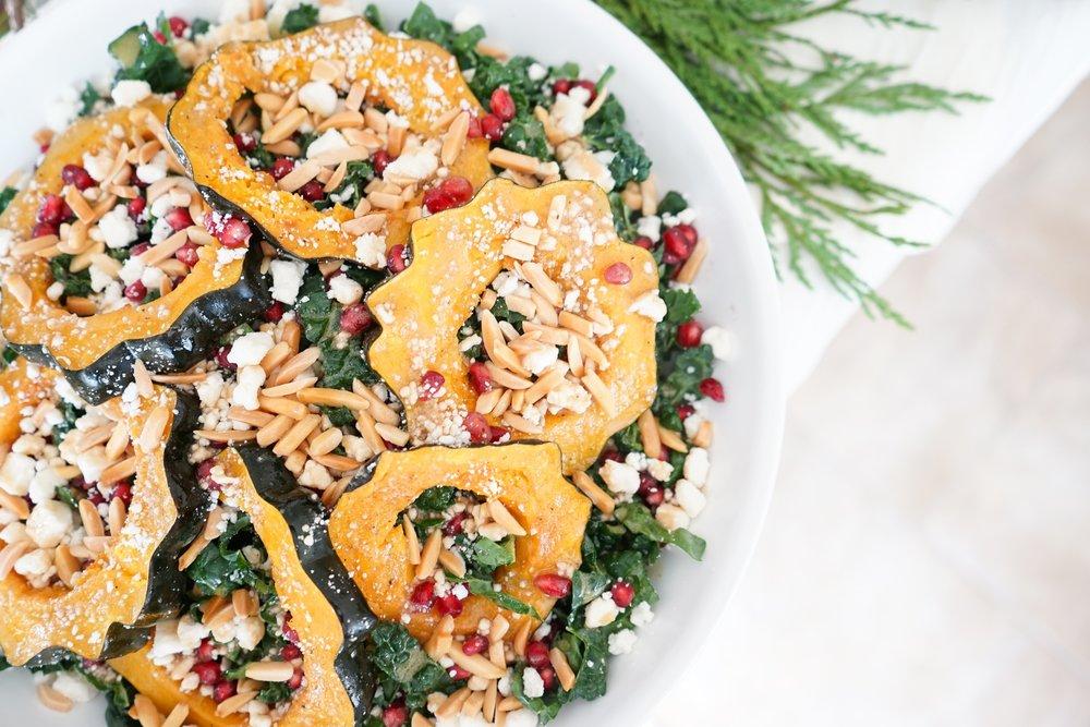 Vibrant winter squash salad