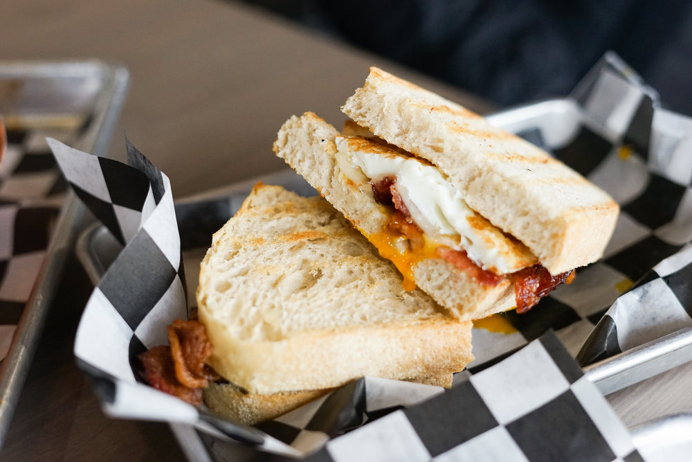 Basic Eggsential Breakfast Sandwich w/bacon