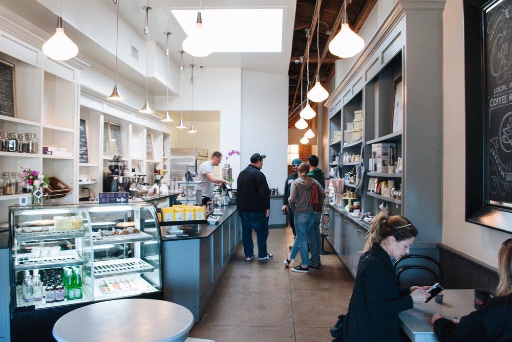Inside Caffe Luxxe