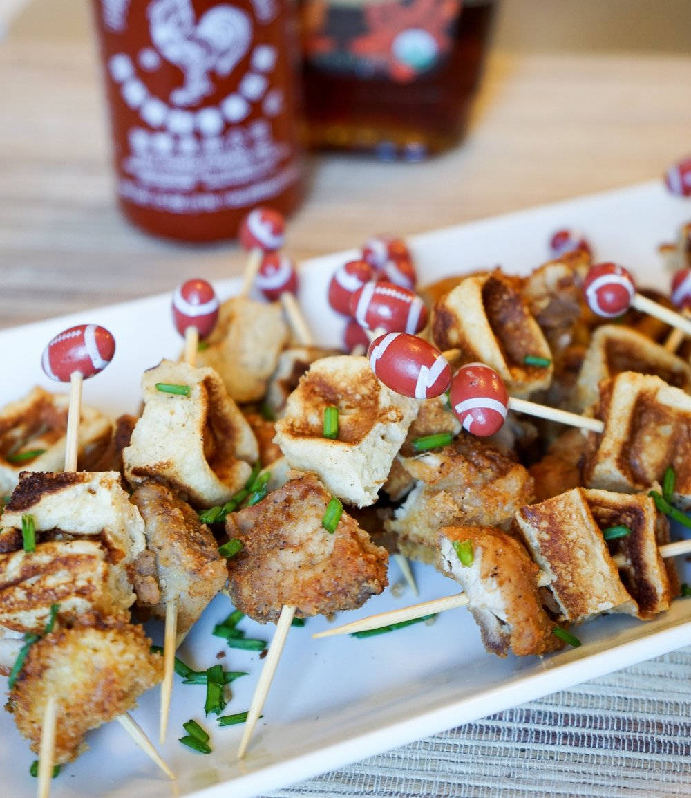 Brunchographers' Chicken and Waffle skewers