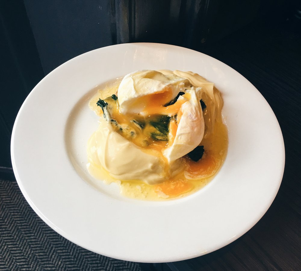 Egg Florentine at the Old Parsonage Hotel, Oxford