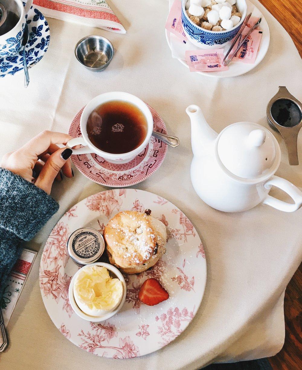 Cream Tea at the Jane Austen Centre Regency Tea Room, Bath