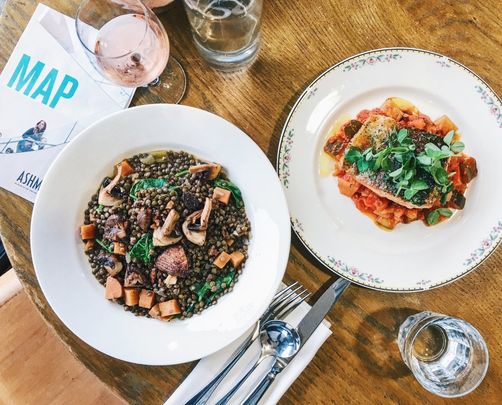 Lentils, Fish, and Rosé at the Ashmolean Rooftop Restaurant, Oxford