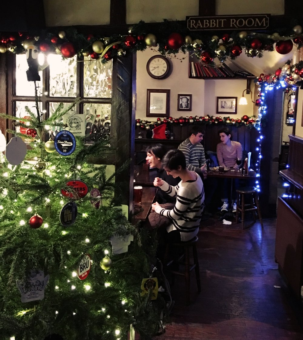 The Rabbit Room at the Eagle and Child,Oxford, where J.R.R. Tolkien and C.S. Lewis' writing group met weekly