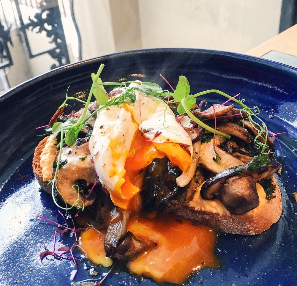 Mushrooms on Toast at Brown & Rosie, London
