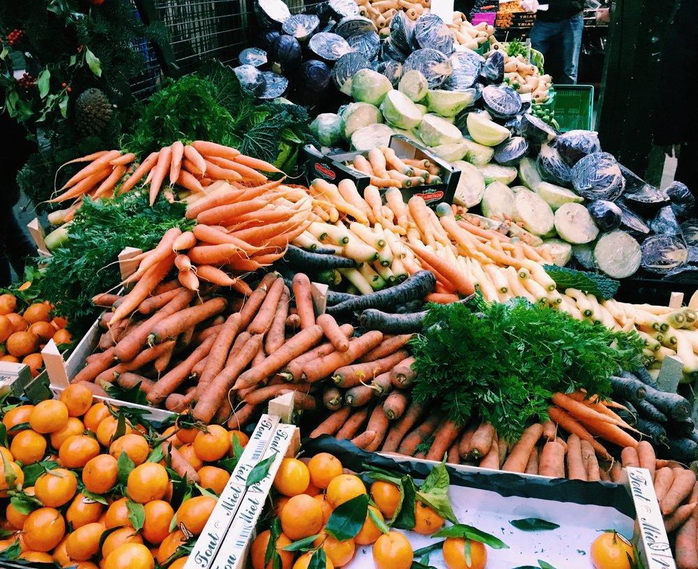 Fresh produce at Borough Market, London