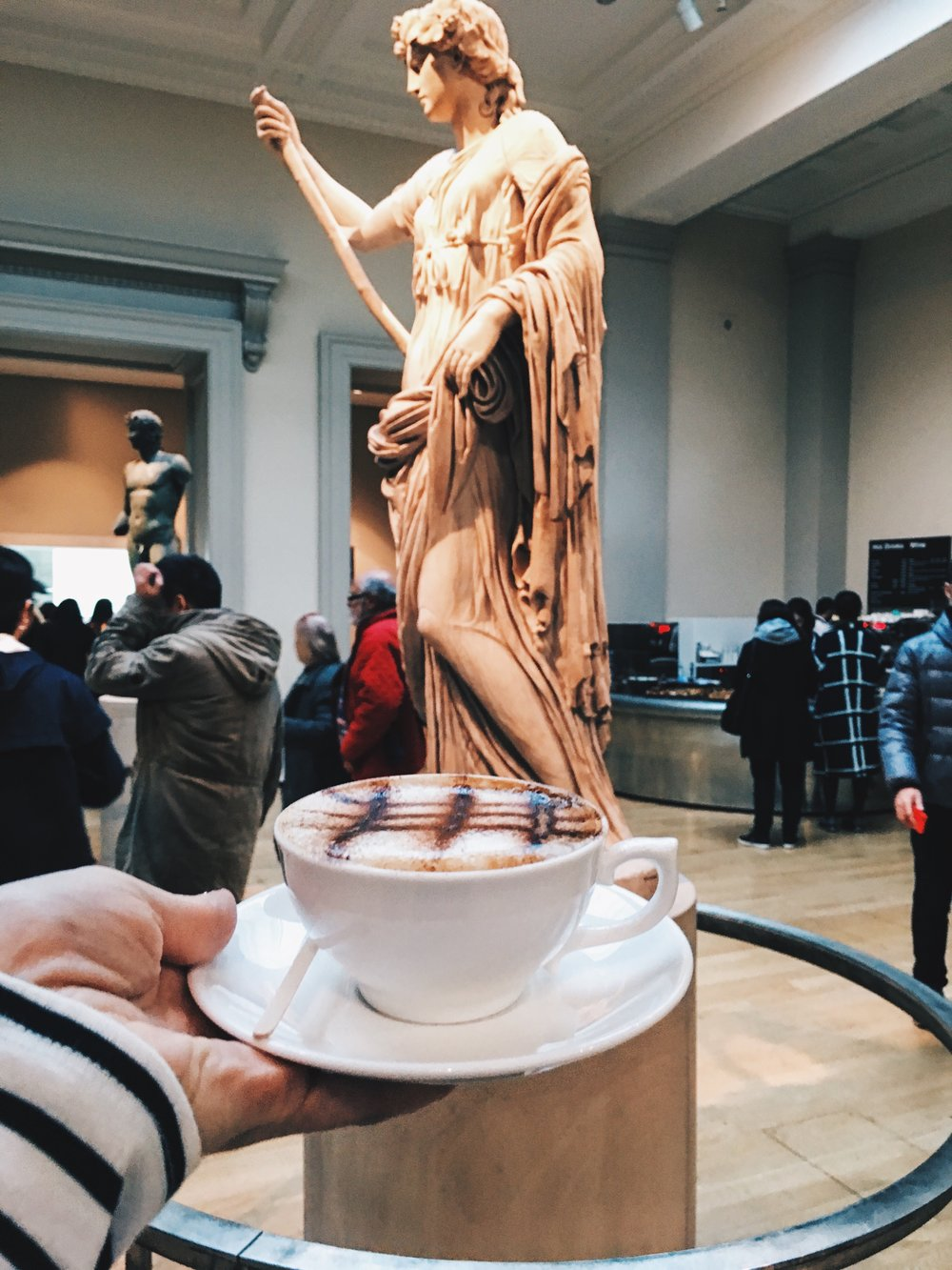 Casually having coffee, just steps away from priceless art. British Museum, London