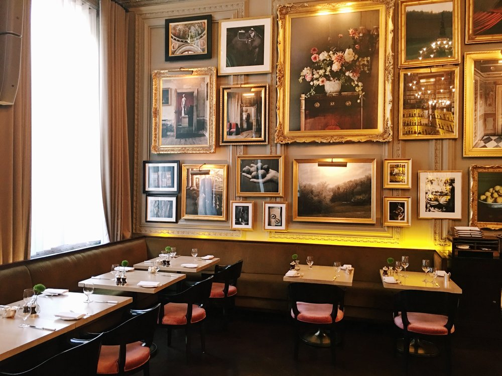 Lovely seating area, Berners Tavern, London