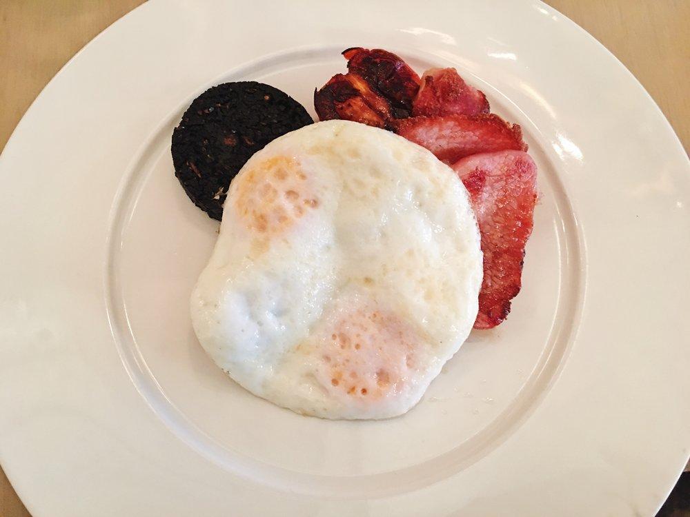 English Breakfast, including black pudding, at Berners Tavern, London