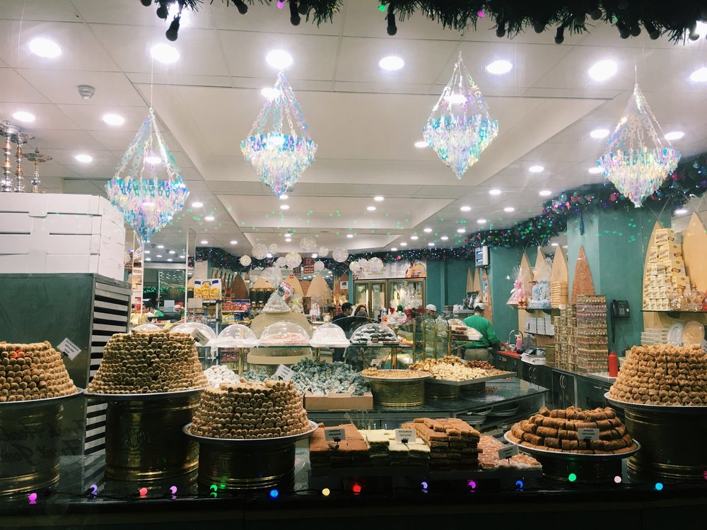 A Lebanese Bakery near Marylebone, London - so much beautiful baklava!
