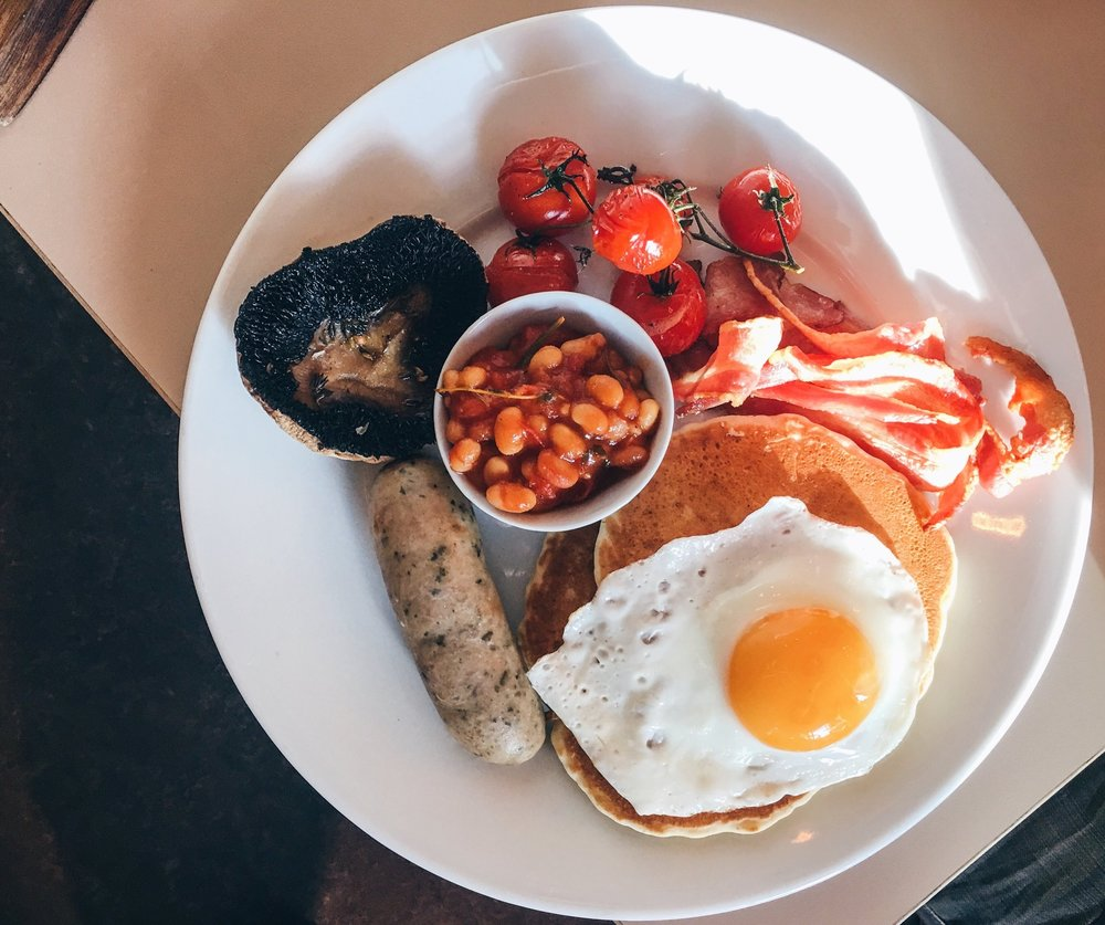 Breakfast with vegan pancakes, Where the Pancakes Are, London