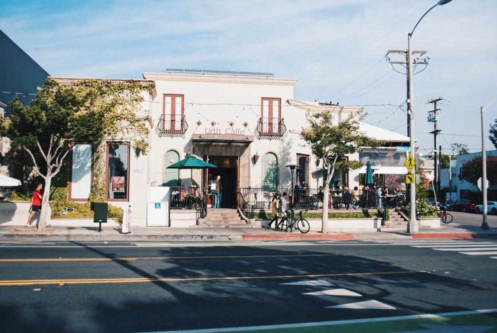 Urth Caffé on Main Street in Santa Monica, CA