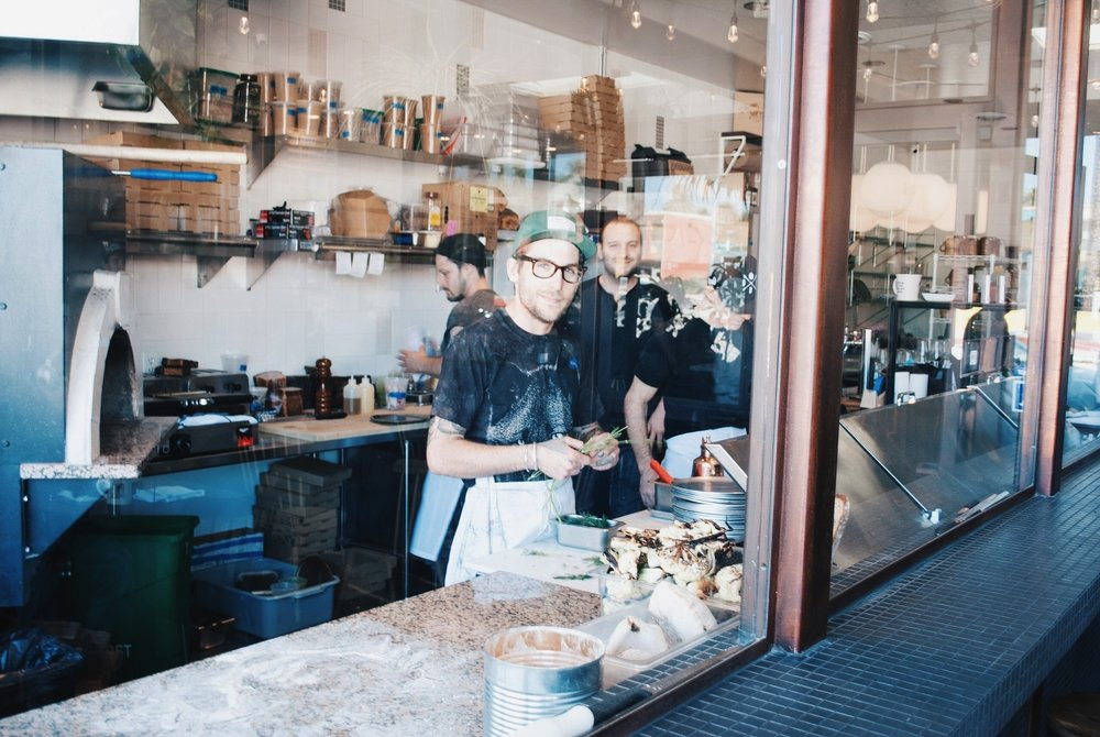 Alexander Phaneuf and Or Amsalam at Lodge Bread Co., Culver City, CA