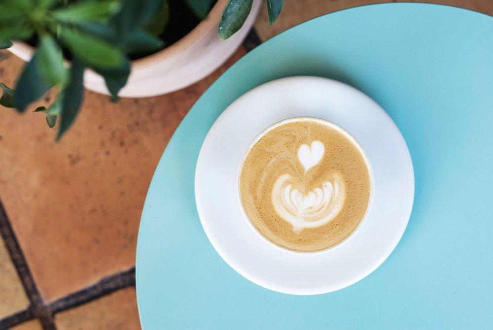 Cappuccino atRose Park Roasters, Long Beach, CA