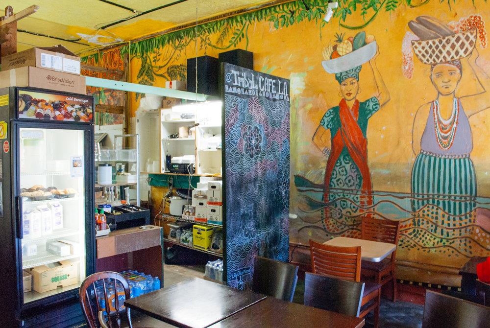 Inside Filipino Adobo Breakfast Bowl at Tribal Café, Los Angeles, CA