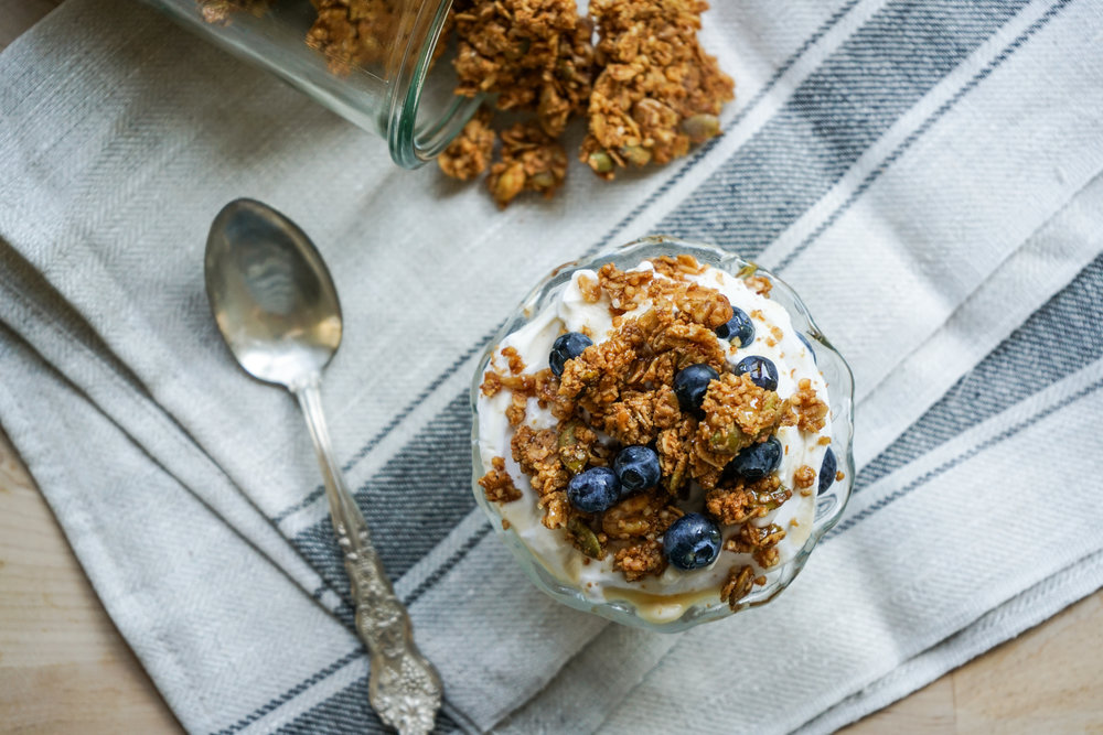 Spiced Tahini Granola - Brunchographers