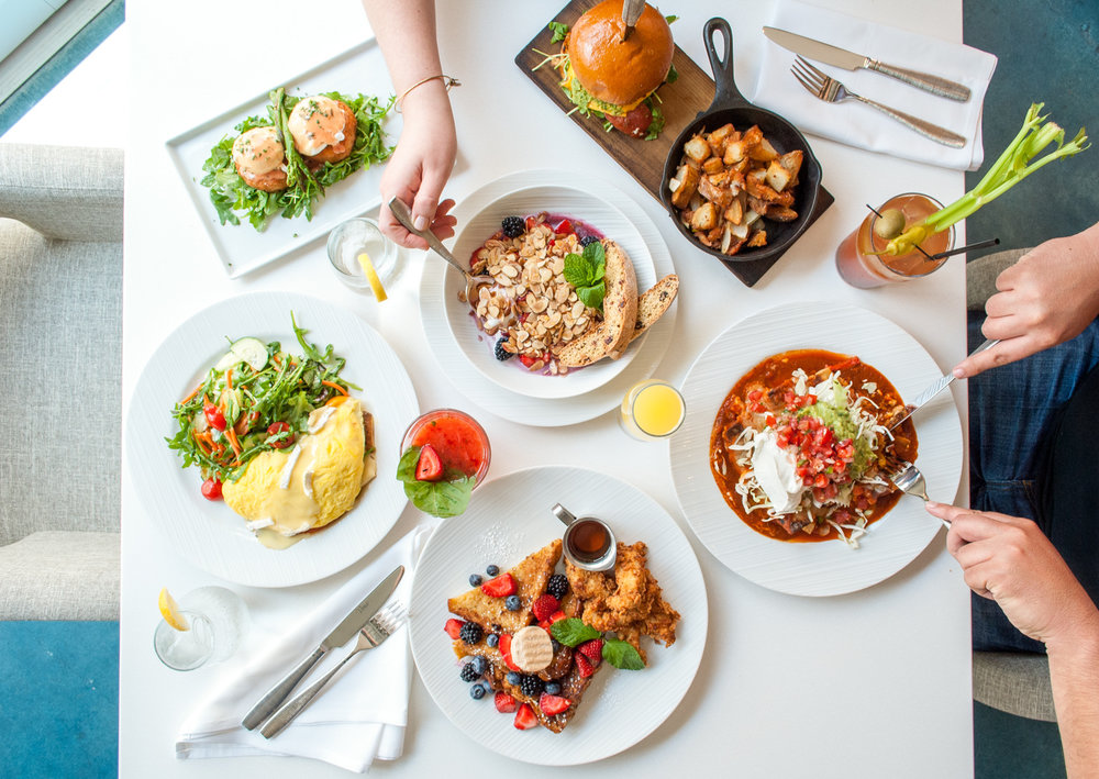 Beautiful brunch spread at Beachside Restaurant & Bar, Marina del Rey, CA