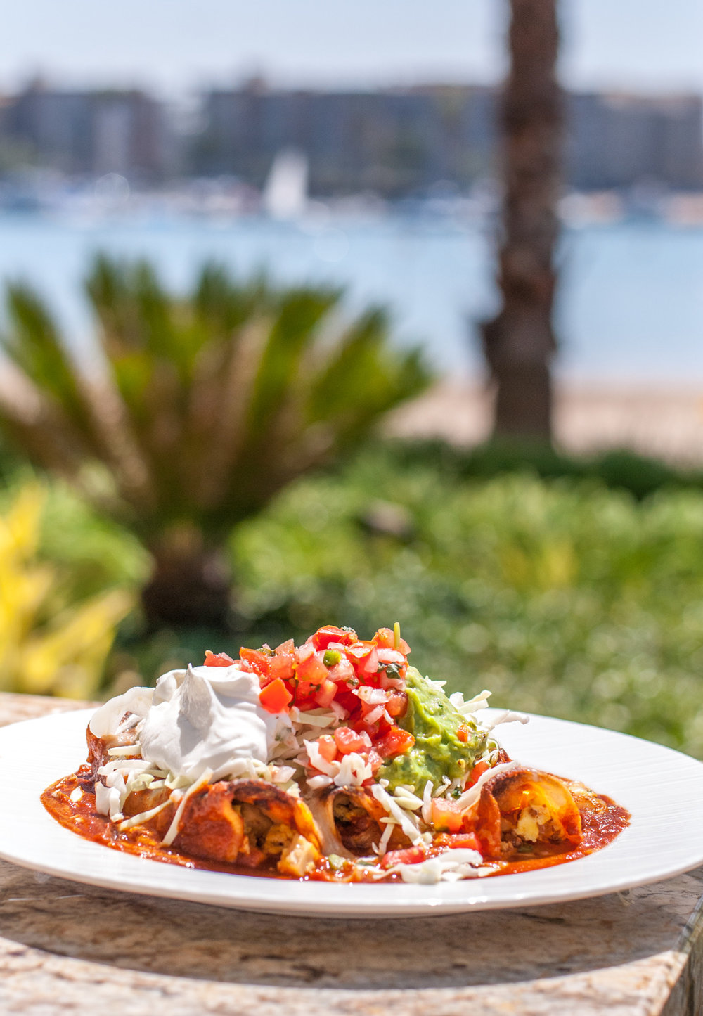 Breakfast Enchiladas at Beachside Restaurant & Bar, Marina del Rey, CA