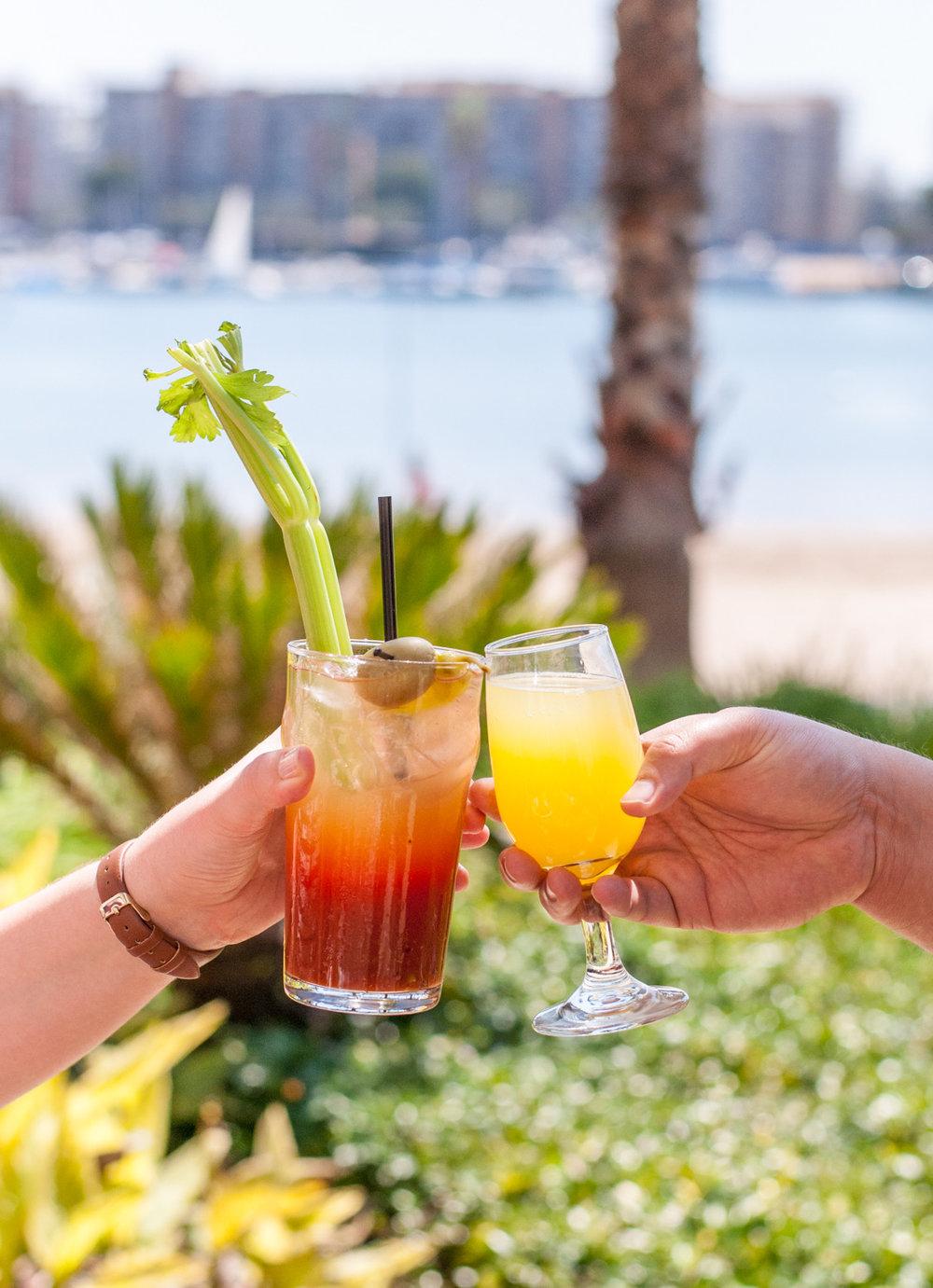 Bloody Mary & Mimosa,Beachside Restaurant & Bar, Marina del Rey, CA