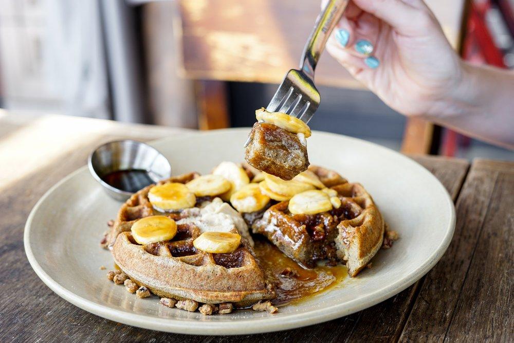 Buckwheat Waffle at at Akasha Restaurant, Culver City, CA