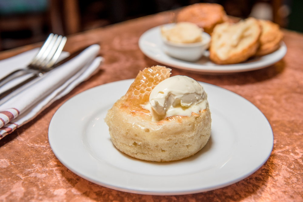 Crumpet with Honeycomb & Clotted Cream at The Pikey, Los Angeles, CA