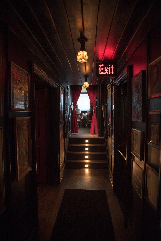 Hallway to the Maharaja Room at The Pikey, Los Angeles, CA