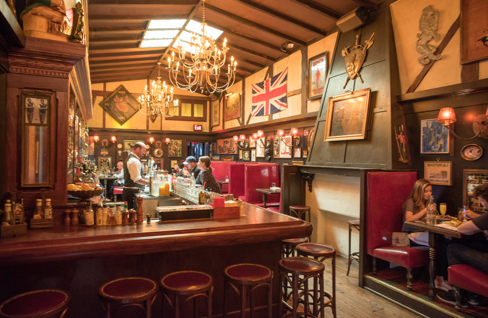 The bar at The Pikey, Los Angeles, CA