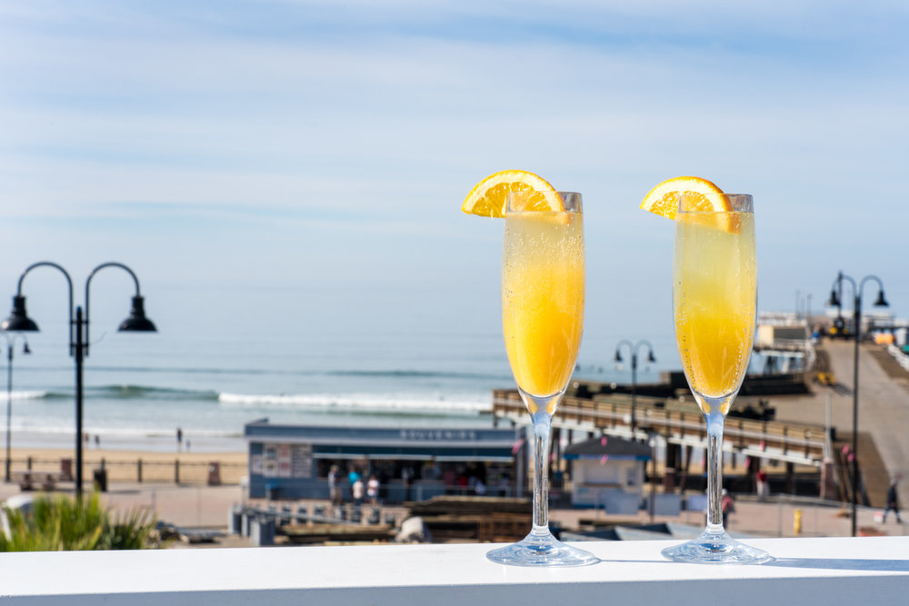 Mimosas with a view,The Rooftop at Inn at the Pier, Pismo Beach, CA