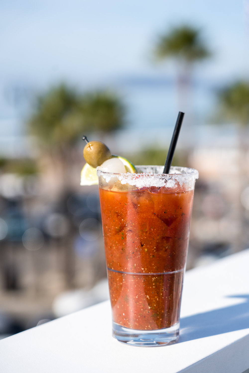 Bloody Mary at The Rooftop at Inn at the Pier, Pismo Beach, CA