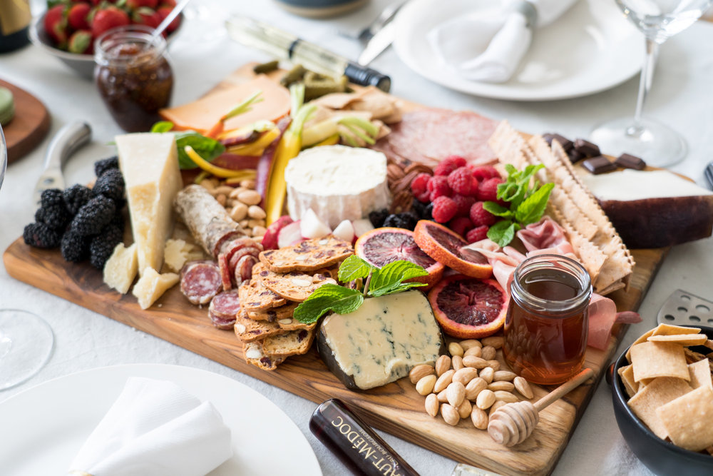 Cheese and Charcuterie Board - Brunchographers' French-Inspired Wine Tasting Brunch