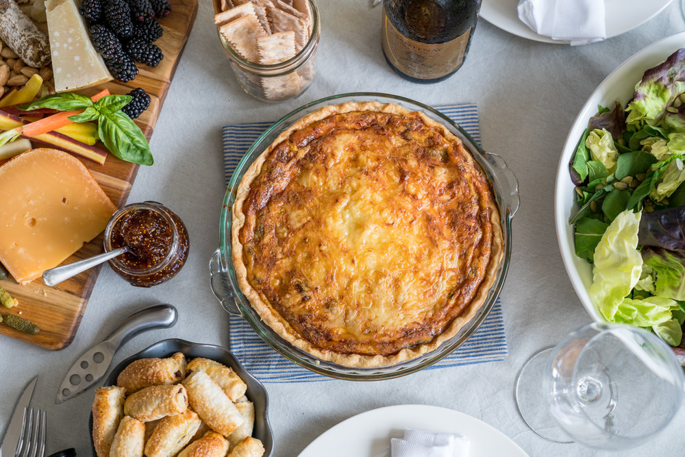 Wild Mushroom and Emmenthal Quiche - Brunchographers' French-Inspired Wine Tasting Brunch