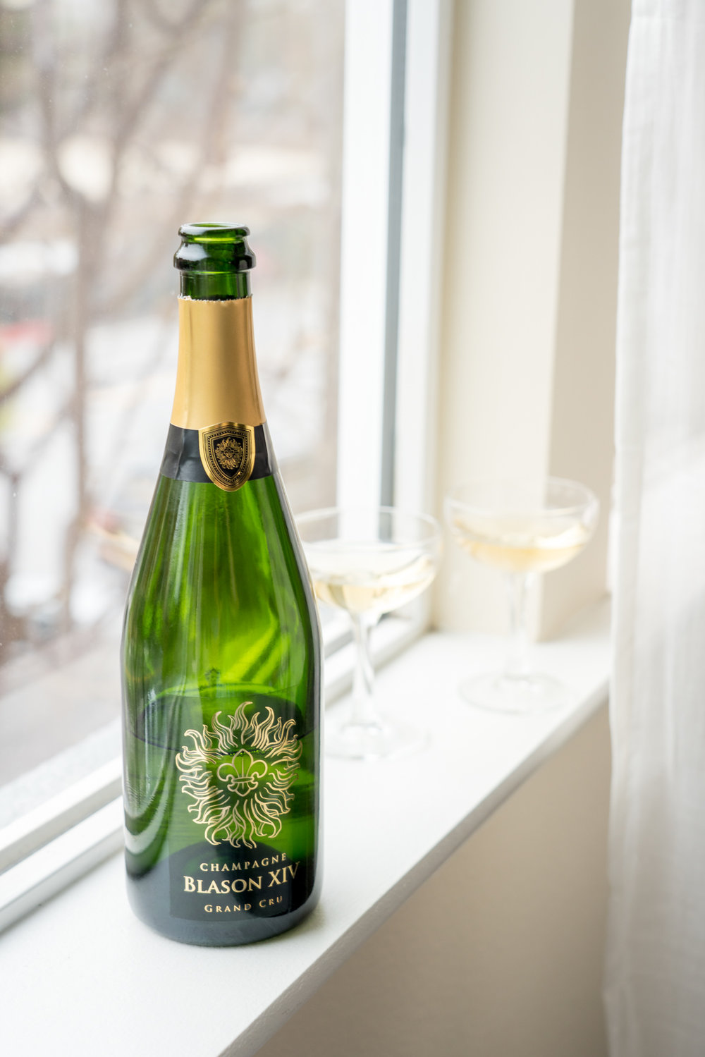 Blason Louis Champagne, a perfect ending to our brunch - Brunchographers' French-Inspired Wine Tasting Brunch