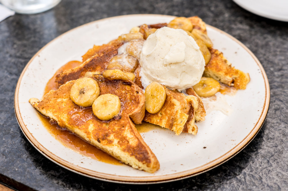 Bananas Foster French Toast, Filifera, Hollywood, CA - Brunchographers