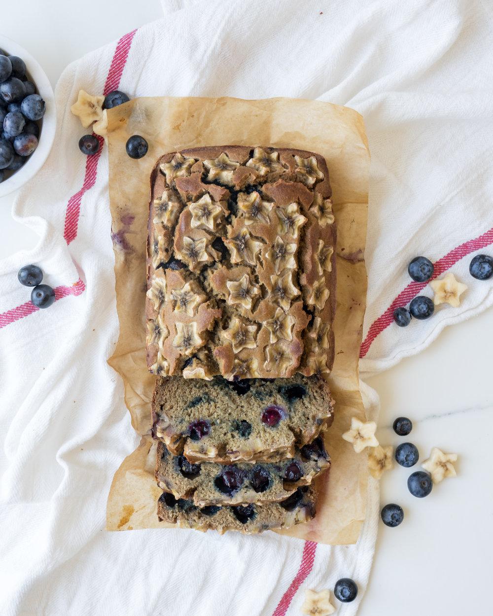 Star-Spangled Blueberry Banana Bread, Brunchographers