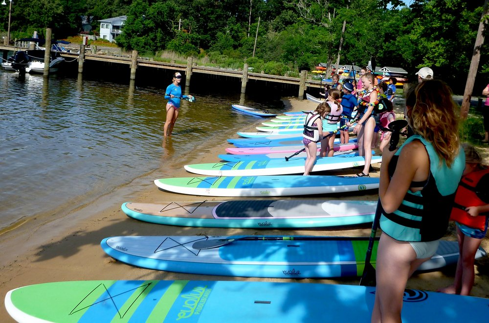 Paddleboard camp activity at Olde Severna Park last summer