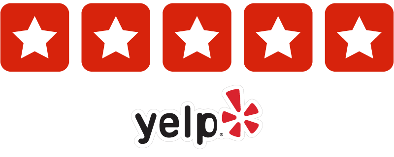 5 stars on Yelp (10 reviews)
