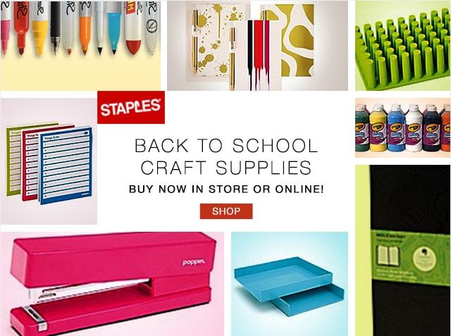 Staples Back-to-School Campaign  Concept, design