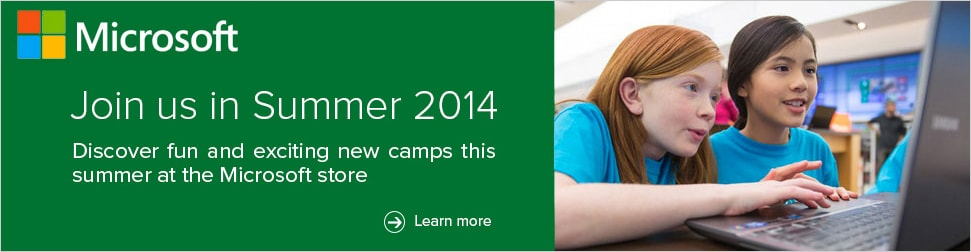Microsoft Summer Camp Campaign  Concept, design