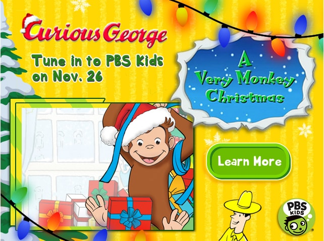 Curious George Holiday Campaign  Concept, design