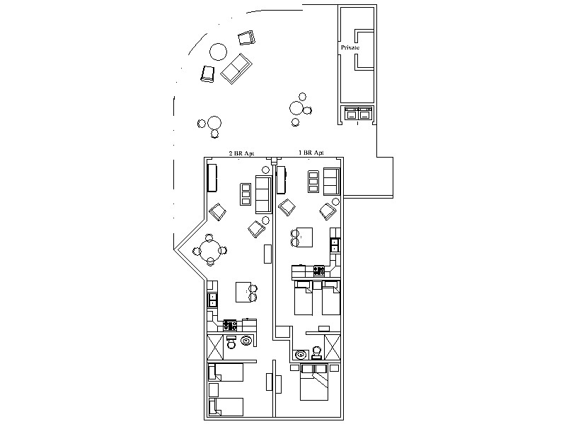 Ground floor Villa layout